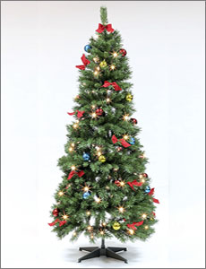 hft2251 5ft pre lit decorated pop up tree - Pop Up Pre Lit And Decorated Led Christmas Tree